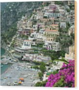 Positano's Beach Wood Print