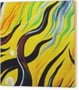 Positive Energy. Abstract Art Wood Print