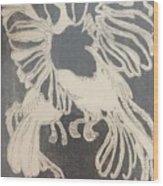Positive Negative Birds  Wood Print