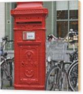 Post Box In Bruge Wood Print