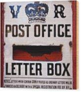 Post Box Wood Print