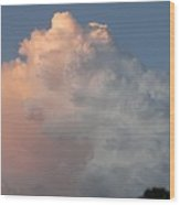 Post Card Clouds Wood Print