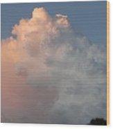 Post Card Clouds Wood Print
