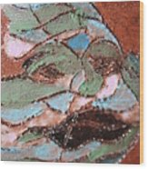 Post Carnival Blues Tile Wood Print
