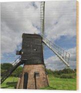 Post Mill Windmill Wood Print