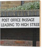 Post Office Passage In Hastings Wood Print