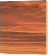 Post Sunset Clouds Wood Print