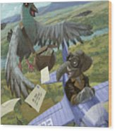 Postal Bird Wood Print by Martin Davey
