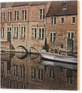 Postcard Canal II Wood Print