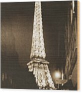Postcard From Paris- Art By Linda Woods Wood Print