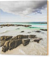Postcard Perfect Ocean Background Wood Print