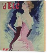 Poster Advertising Alcazar Dete Starring Kanjarowa  Wood Print
