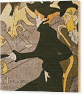 Poster Advertising Le Divan Japonais Wood Print by Henri de Toulouse Lautrec