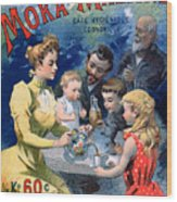 Poster Advertising Moka Maltine Coffee Wood Print