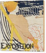 Poster Advertising The Exposition Internationale Daffiches Paris Wood Print
