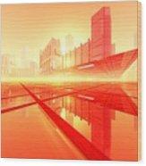 Poster-city 1 Wood Print