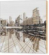 Poster-city 4 Wood Print