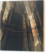 Poster-city 7 Wood Print