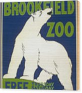 Poster For The Brookfield Zoo Wood Print
