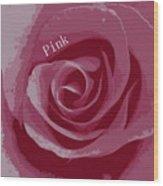 Poster Rose Wood Print