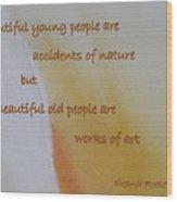 Poster Series - 15 Wood Print