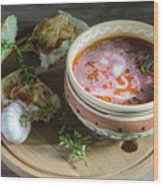 Pot Of Ukrainian Borsch Wood Print