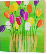 Pot O'tulips Wood Print