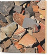 Pot Shards Wood Print