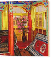 Potala Tea Room Wood Print