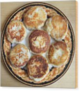 Potato Cutlets With Chicken Filling Wood Print