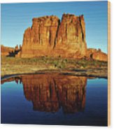 Pothole Reflections - Arches National Park Wood Print