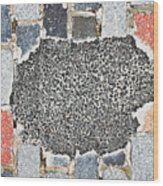 Pothole Repair Wood Print