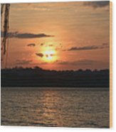 Potomac River Sunset In March Wood Print