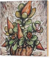 Potted Flower #2 Wood Print