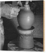 Potter At Work Wood Print