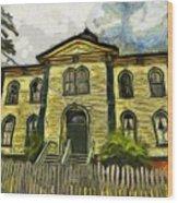 Potter Schoolhouse Wood Print