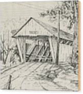 Potter's Covered Bridge Wood Print