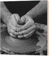 Potters Wheel Creation Wood Print