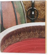 Pottery Abstract Wood Print