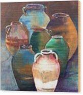 Pottery Jars Wood Print