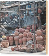 Pottery Shop In India Wood Print