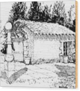 Potting Shed At Le Coin Retro In Le Thor France Wood Print