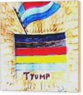 Potus For All Black Brown, Red, Yellow, White Wood Print