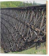 Pouce Coupe Train Wooden Trestle Wood Print