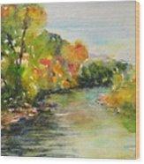 Poudre Riverbend Wood Print