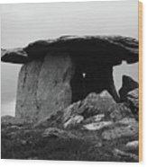 Poulnabrone Dolmen No1 Wood Print