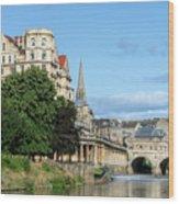Poulteney Bridge Bath 1 Wood Print