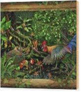 Poultrified Garden Of Eden Wood Print