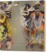 Pow Wow Beauty Of The Dance 1 Wood Print