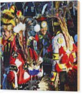 Pow Wow Beauty Of The Past 5 Wood Print